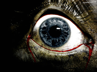 Bleeding Blue Eye HD Wallpaper