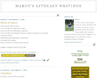 Makoy's Literary Writings