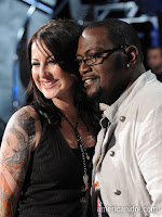 Carly Smithson and Randy Jackson
