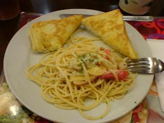 Piadina mixed seafood pasta