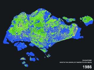 Singapore vegetation 1986