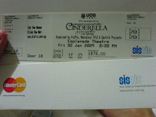 Cinderella Singapore ticket