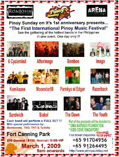 1st Internation Pinoy Music Festival in Singapore