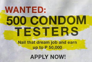 500 Condom Testers Wanted