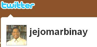 Jejomar Binay in Twitter?