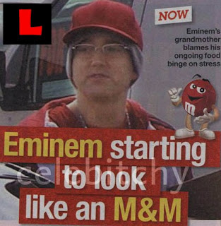Eminem Looking Like M&M Fat Pictures