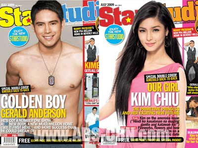Kim Chui and Gerald Anderson Star Studio Magazine July 2009