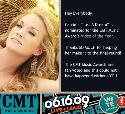 Vote Carrie Underwood in CMT Music Awards 2009