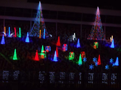 new this year charlotte motor speedway offers a 25 mile drive through christmas light show open nightly through jan 2 2011 this is reported to feature