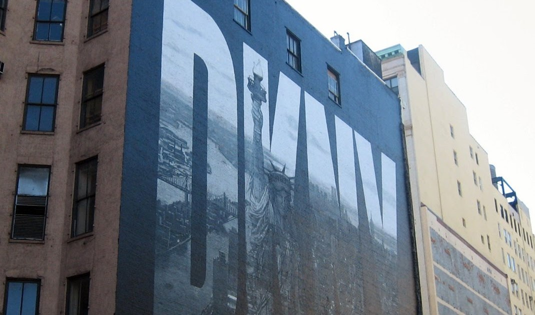 Fashion architect iconic dkny mural painted over for Abercrombie mural