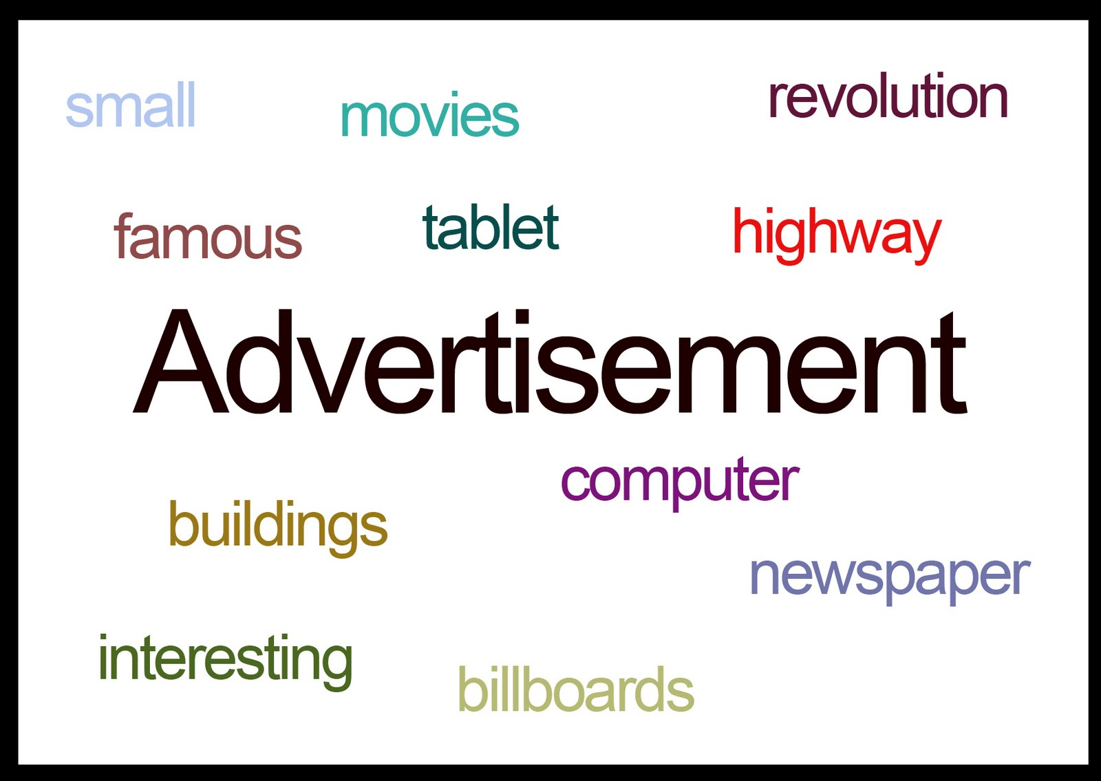 words short essay on advertisement