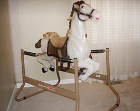 This Wonder Horse represents the one I had as a child..... I think I broke the springs.