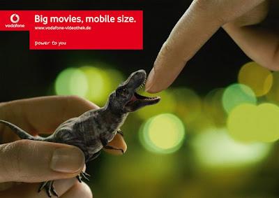 Comeek - Publicité Vodafone Jurassic park