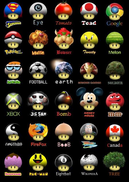 Les nombreux déguisements du champignon de Super Mario
