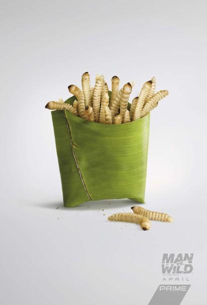 Des publicités appétissantes pour Man vs Wild