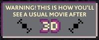 Cinema 3D Publicités - Star wars, matrix et indiana jones en pixels