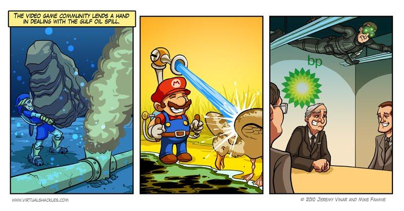 Humour - Les jeux vidéo pour gérer la fuite de pétrole...