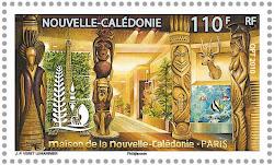 Timbre à l'effigie de la Maison de la Nouvelle-Calédonie à Paris