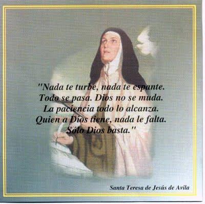 Retazos Poeticos Poesías De Santa Teresa De Jesús