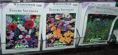 [Photo: OSC wildflower seed packets Semi-Shade Mixture, Low-Growing Mixture, and OSC mixture.]