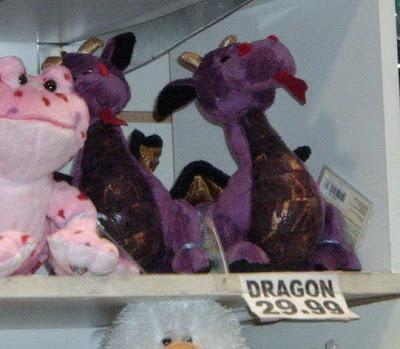 [Photo: Webkinz Emperor Dragon priced $29.99 at Toys Toys Toys.]