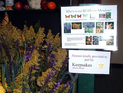 [Photo: dried wildflowers at Canada Blooms.]