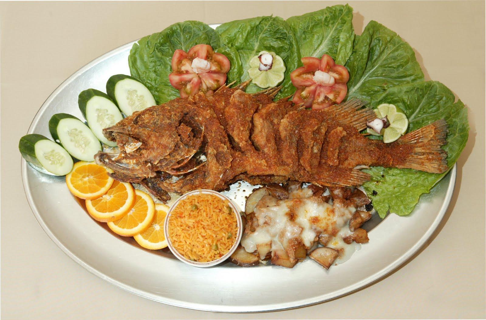 Pescado mojarra for Sides for fried fish