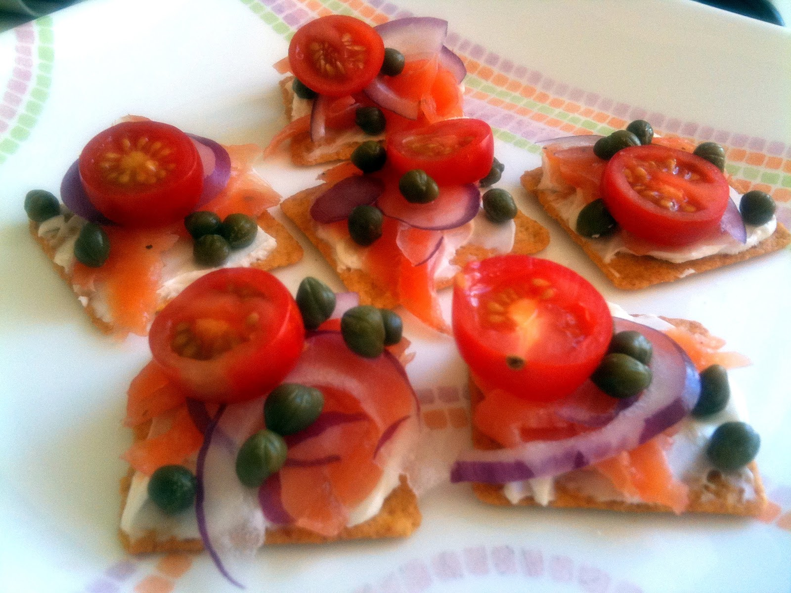 la V en Rose: Farmers' Market: Salmon Canapes