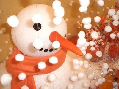 Snowman party centerpiece