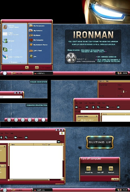 Iron Man Theme For Windows XP/Vista