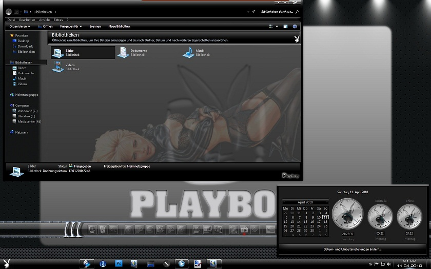Downlaod sexy Playboy windows 8.1 pc theme
