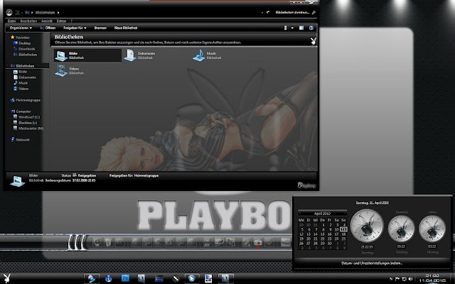 Windows 7 thème playboy sexy