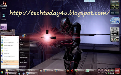 Mass Effect 2 Aero ThemePack For Windows 7 Free Download