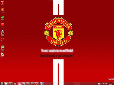 Manchester United Football Theme For Your Windows 7 OS