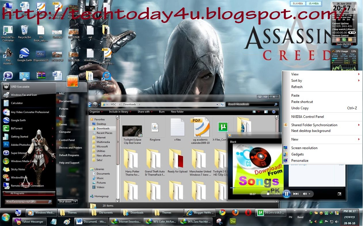Download Assassin's Creed Gaming PC Theme