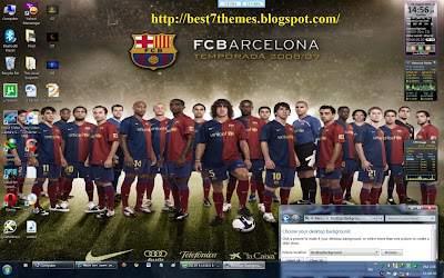 Spanish la liga barcelona pc theme