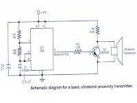 ultrasonic sensor circuit 1 fun with basic robotthe photo depicts the schematics for an ultrasonic transmitter which will send a signal out into it\u0027s surrounding area the ultrasonic receiver will detect
