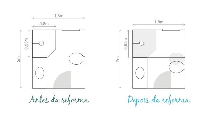 Gabinete Para Banheiro Plantas para banheiros pequenos -> Banheiro Pequeno Planta Baixa