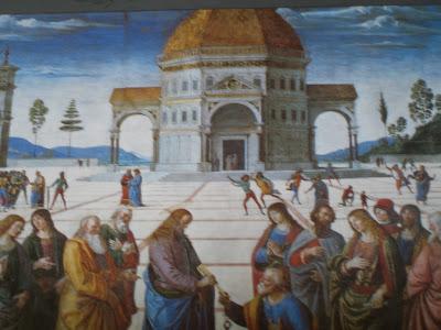Christ Giving the Keys to St  Peter   1481 Fresco  11  5 1 2 quot  x 18  8    Orthogonal Art