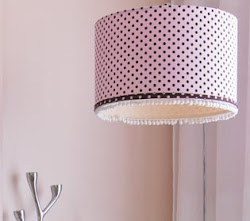 Cúpula de luminária com tecido