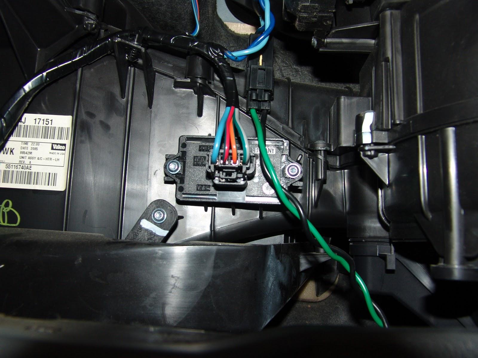 Blower Motor Resistor Location