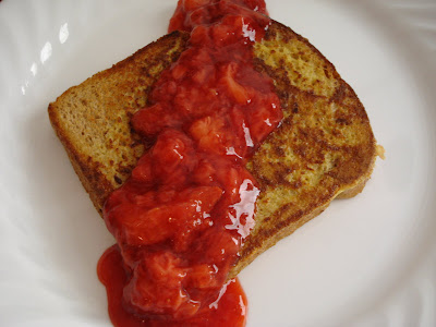 French Toast with Strawberry Sauce I One Lovely Life