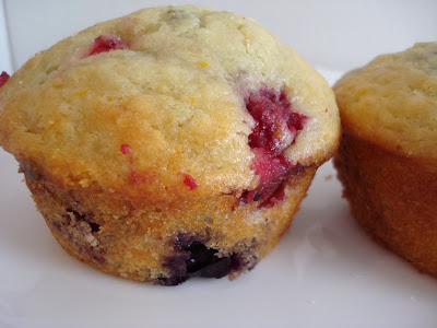 Orange Triple Berry Muffins I One Lovely Life