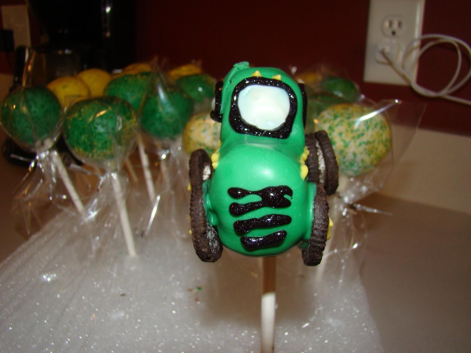 Simply Cake John Deere Tractor Cake Pops