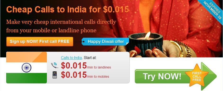 Rebtel Diwali Promotion