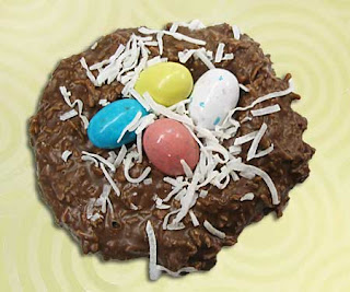 Easter Crafts - How to Make Edible Miniature Coconut Bunny Nests