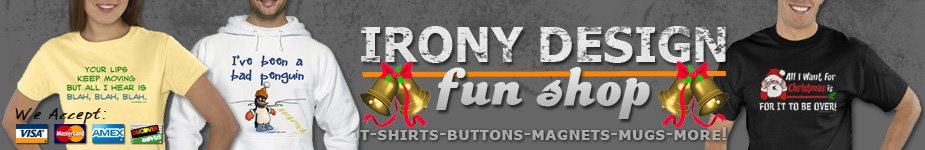 Irony Design's Fun Shop Newsletter