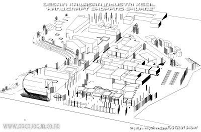 Desain Kawasan Industri Kecil Handicraft Shopping Square