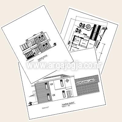 Contoh Gambar Kerja Rumah Minimalist 2 Lantai