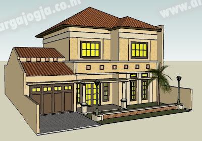 Desain Sketch Eksterior Fasad Rumah 2 Lantai